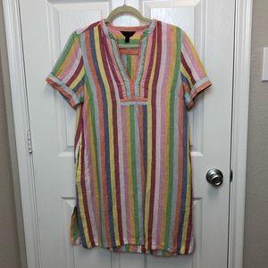 J. Crew Rainbow Striped Dress